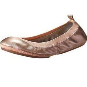 Yosi Samra Samara Ballet Flats Shoe 8 Rose Gold